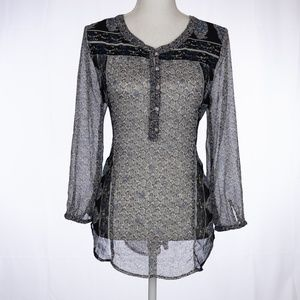 LUCKY BRAND Tunic Blouse Size M